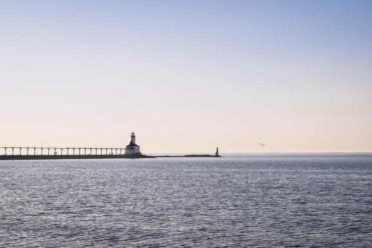 lighthouse shores lake michigan