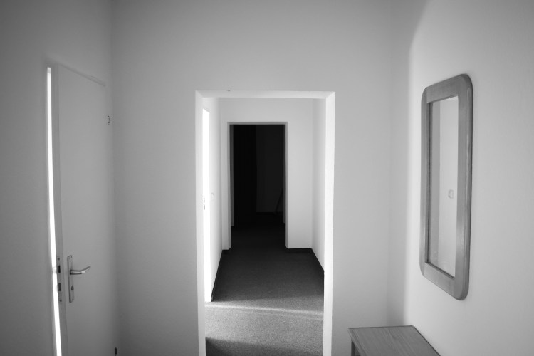 Berlin black and white hallway