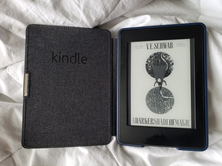 kindle paperwhite with a darker shade of magic cover