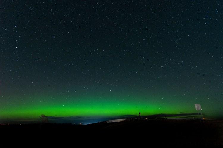 northern lights on the horizon