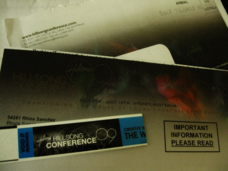 I got my Hillsong Conference pass