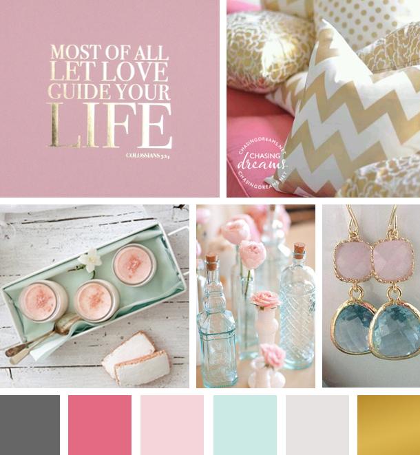 Color Inspiration: Mint, Blush, Gold