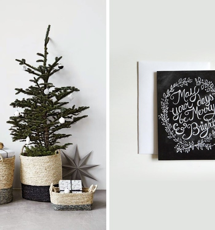 Home Inspiration: Black & White Christmas