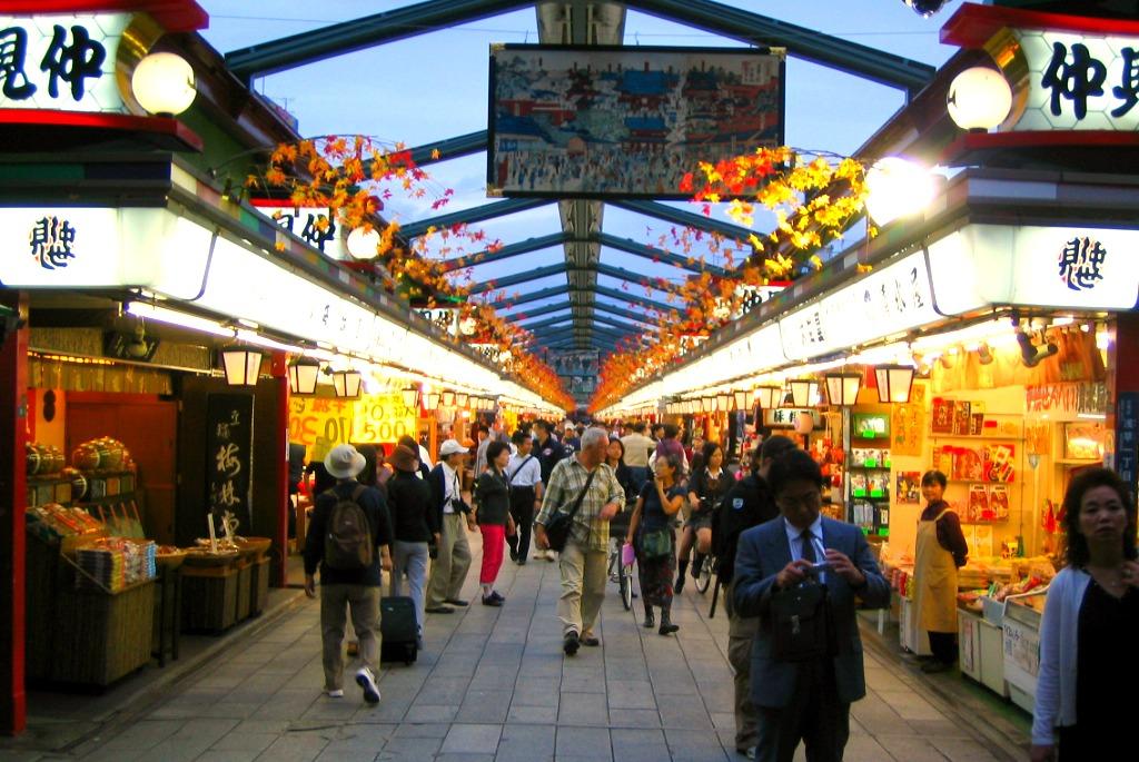 Nakamise_dori tokyo japan