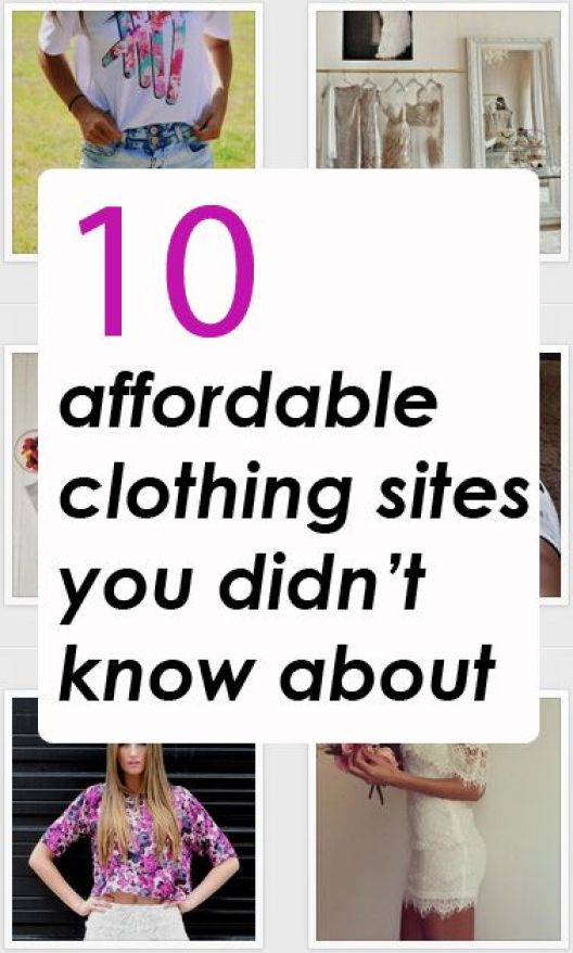 20 affordable clothing sites you didn't know about