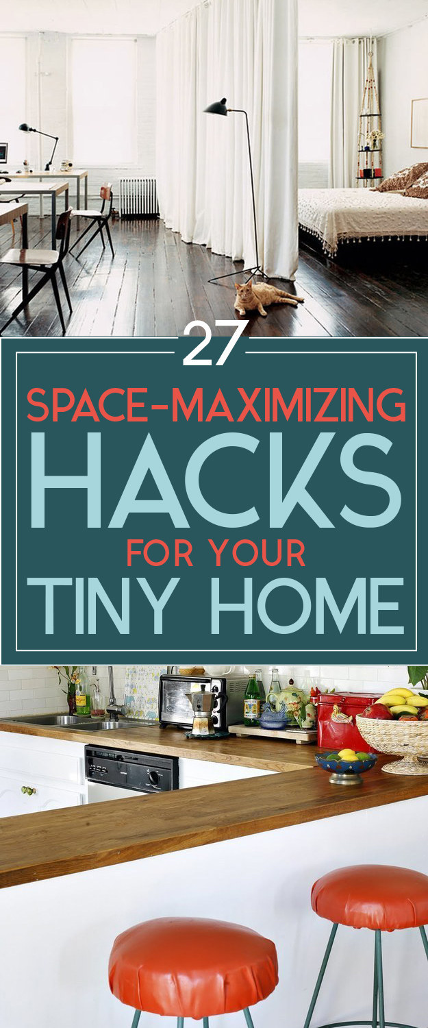 10 home hack posts that will improve your life for How to maximize small spaces