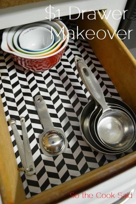 $1 Drawer Makeover from So the Cook Said.