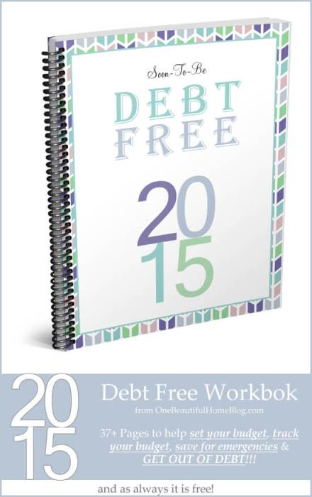 Soon To Be Debt Free Workbook