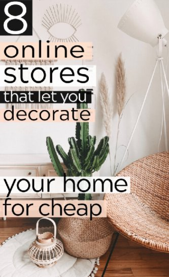 8 Cheap Decor Stores Online For Budget Decoraters Pinterest Pin