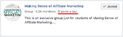 making sense of affiliate marketing facebook group