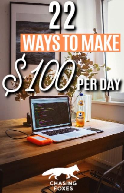 22 Ways To Make $100 Per Day
