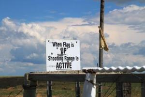 A somewhat alarming sign where we were fishing