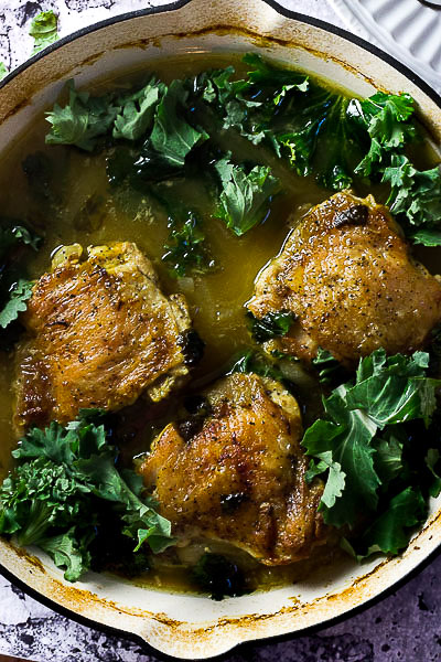 Chicken with Spring Herbs & Wine