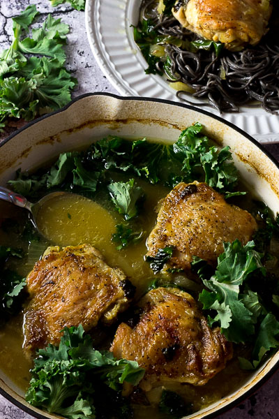 Chicken with Spring Herbs and Wine