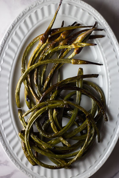 Oven Roasted Garlic Scapes