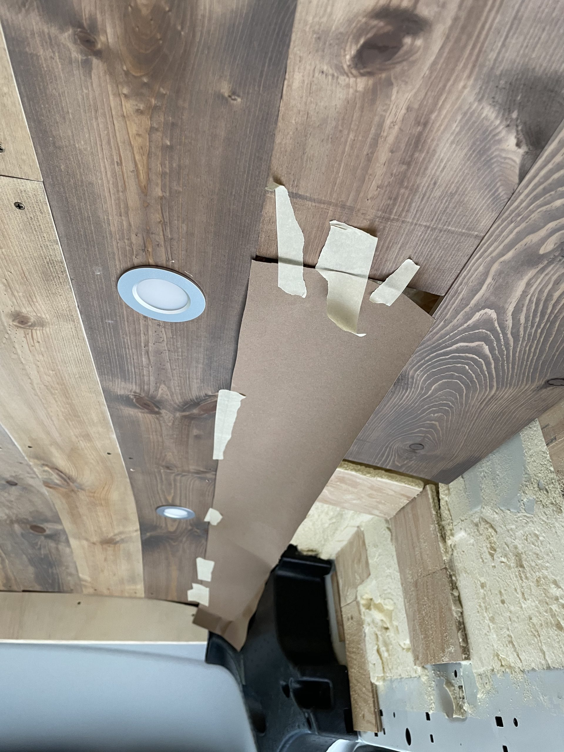 Van build ceiling