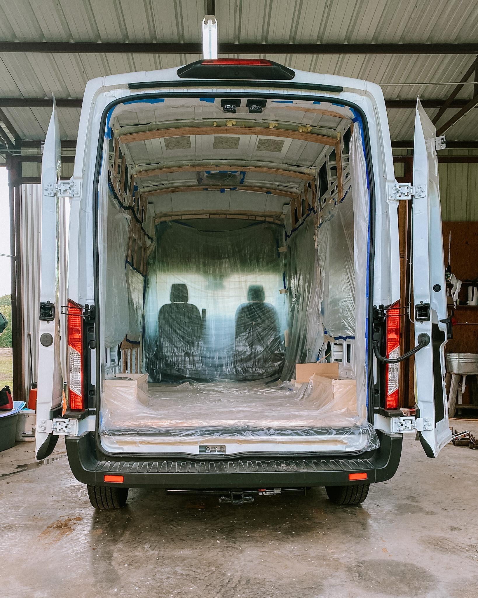Van build ceiling