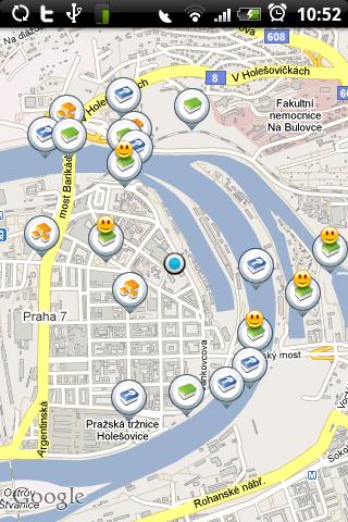 Map des géocaches dans c:geo sous Android