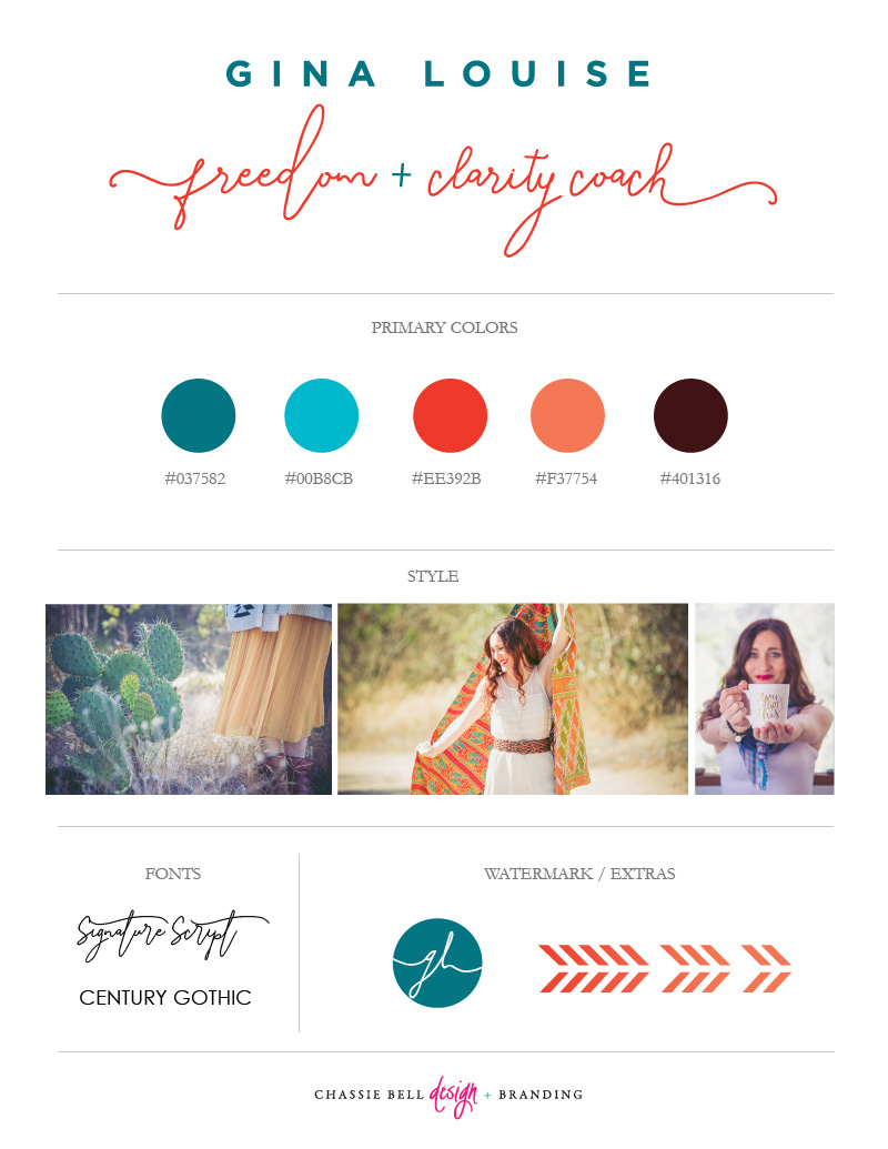 Chassie Bell Design | Gina Louise Coaching
