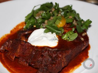 Lamb – lamb braised with chipotle and spices, whole grain salad, fragrant herbs, yogurt