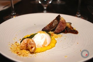 Poached Farm Hen Egg, Squab Cooked in Brown Butrer, Creamed Local Corn, Chanterelle
