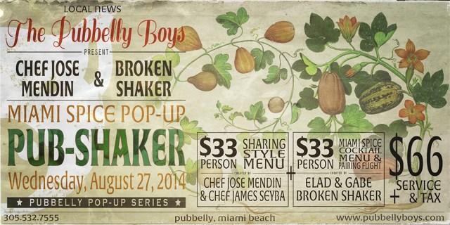 Pub-Shaker Miami Spice Pop Up