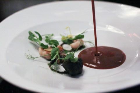 Barnicle / Sea Urchin / Rock Shrimp / Sprouts / Seaweed / Black Bean Soup
