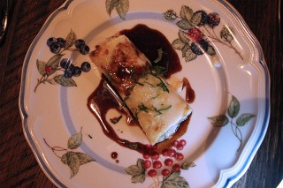 House baked cannelloni di coda with braised oxtail and taleggio
