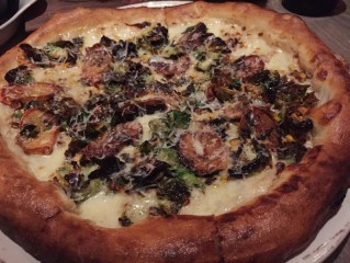 Carmelized Brussel Sprouts – charred corn, roasted garlic, shaved fingerling potato, white truffle oil