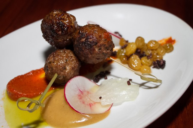 Aussie lamb meatball and raisins