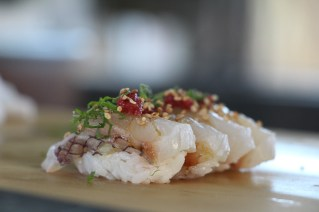 Red Snapper, Shisho, Sesame, Sautéed Plum