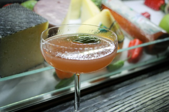 Belmonte - Absolut Elyx, strawberry, basil, jalapeno syrup, and lime