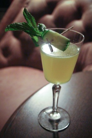 The Buena Vista - Plymouth Gin, St. Germain, cucumber, lemon, and mint