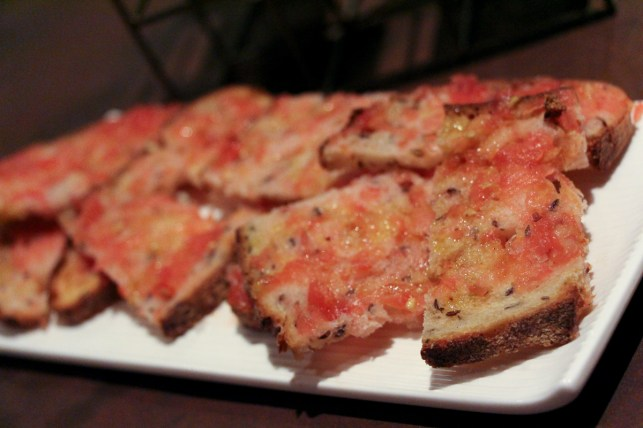 Caraway Bread with Fresh Tomatoes