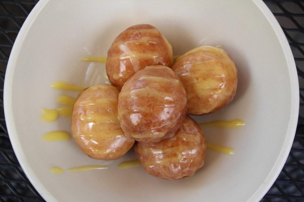 Zeppole with Vanilla Citrus Glaze