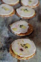 Foie Gras Torchon on a Anzac biscuit