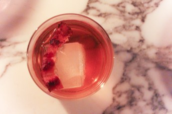 Lombardia is made with Bacardi 8 Rum, Bulleit Rye, Angostura Bitters, orange bitters, dry sherry, simple syrup