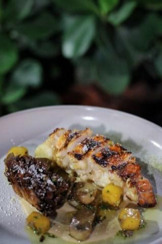 Florida Lobster with porcini, kaffir lime butter, maetake, pumpkin