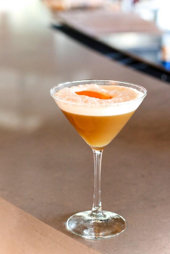 Artichoke Sour - Hendrick's Gin, Cynar, Raspberry, Egg White