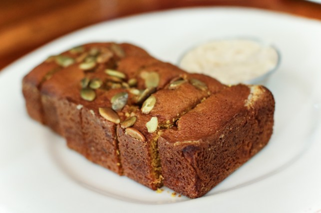 Pumpkin Bread with honey whipped butter