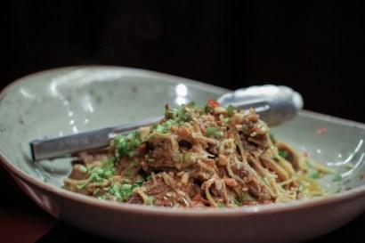 Beef Short Rib Kare Kare - hong kong noodles, peanut & thai chili relish