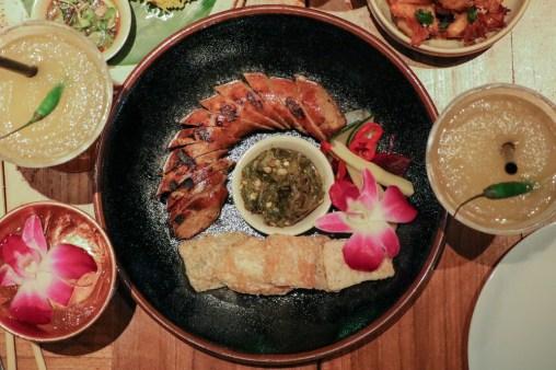 Chiang Rai Sausage with lemongrass, chili, soy, jalapeño salsa