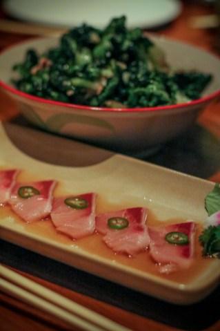 Hamachi Sashimi – jalapeño, yuzu soy