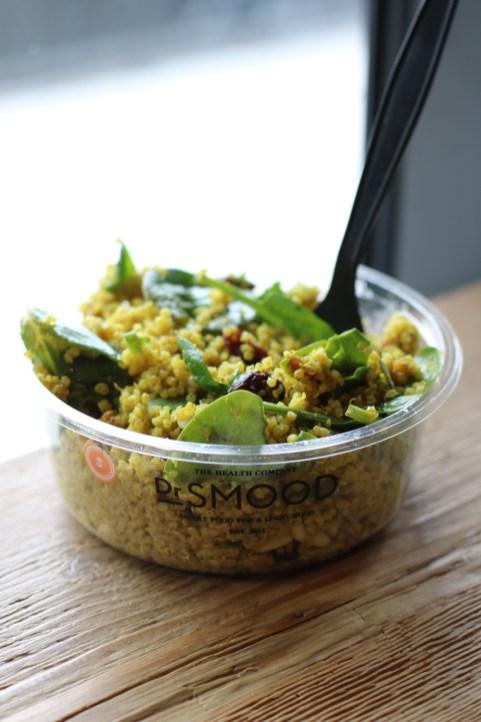 Quinoa Salad w/ Spinach, Pinenuts, Cranberries, Curry, Cumin, Turmeric & Tandoori Masala