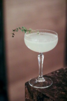 The Last Thyme – Botanist Scottish Gin, Luxardo Maraschino, Yellow Chartreuse, Lime & Scorched Thyme