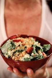 Kale Salad tossed in a Buttermilk Miso Ranch, Tomato, Blue Cheese, Hazelnut, House Bacon