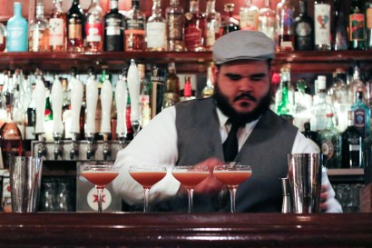 Capone's Tail made with Knob Creek®, Allspice Dram, Lime Juice, Demerara Sugar and Bitters