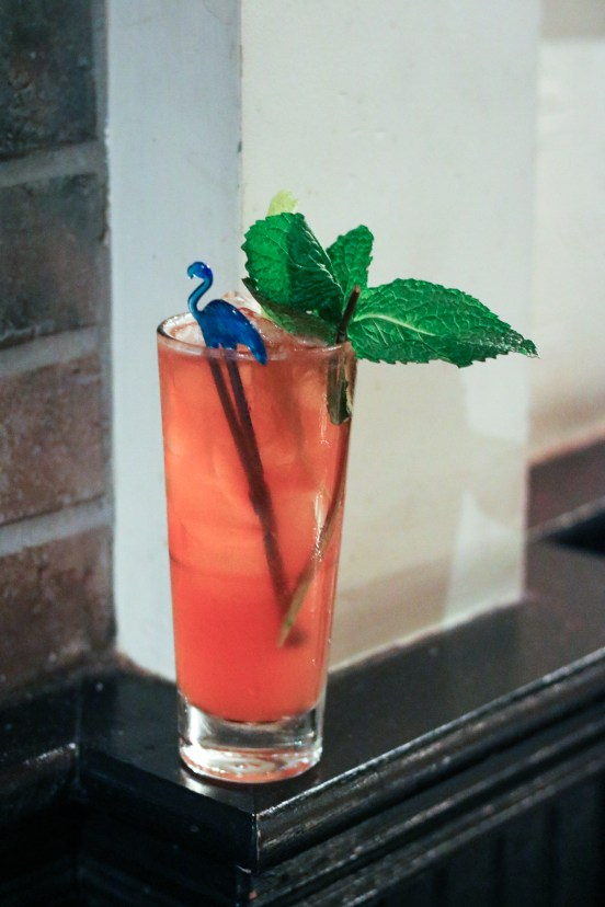 Lucky Luciano made with Maker's Mark®, Gra'it Grappa, Aperol, Lime Juice, Demerara Sugar and Grenadine