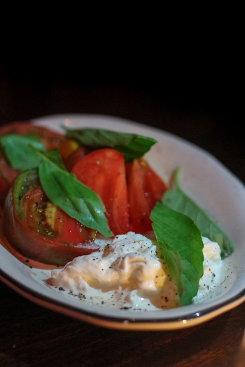 Stracciatella w/ mission figs, basil, extra-virgin oil, sea salt