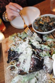 Coal Roasted Short Rib for two with Castelvetrano olives, walnuts, celery and horseradish